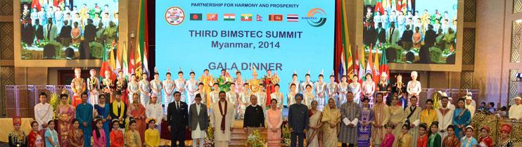 Leaders at 3rd BIMSTEC Summit in Myanmar.