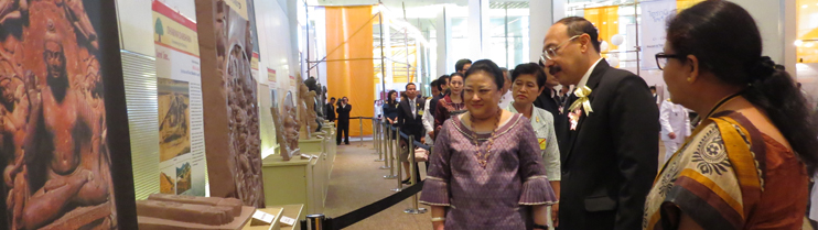 Inauguration of Buddhist Exhibition honored by Her Royal Highness Princess Soamsawali, at Royal Paragon Hall, 5th Floor, Siam Paragon Shopping Centre.