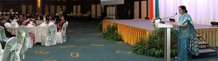 Community Reception in honour of EAM Sushma Swaraj in Bangkok on 27 June, 2015