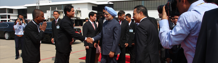 Departure of Prime Minister Dr. Manmohan Singh at Don Muang Airport on 31 May 2013