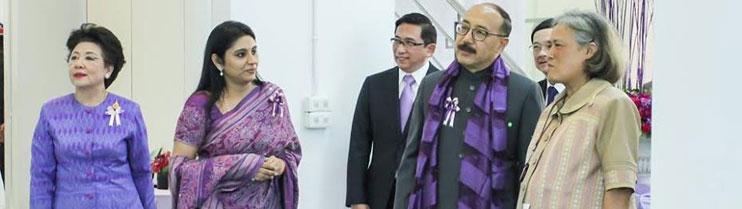HRH Princess Maha Chakri Sirindhorn with Ambassador Harsh Vardhan Shringla