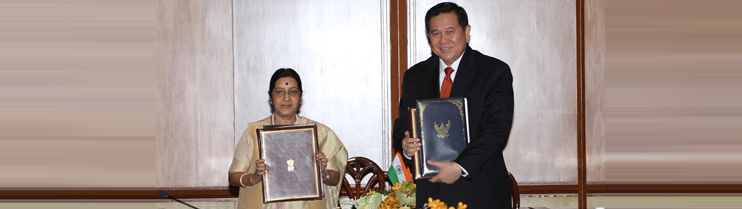 7th India-Thailand JCM - Signing Ceremony of MoUs/Agreements