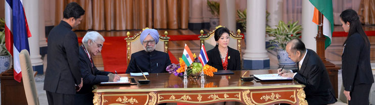 Signing of Agreements/MOUs between India and Thailand