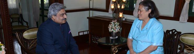 Ambassador Anil Wadhwa audience with HRH Princess Maha Chakri