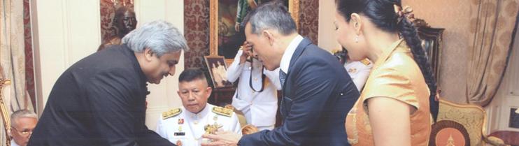 Ambassador Anil Wadhwa with HRH Crown Prince
