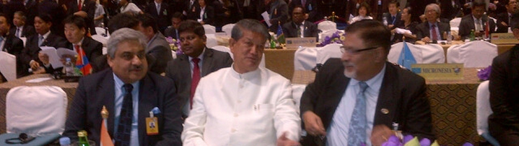 Chiangmai Water Summit: Indian Delegation consisting of H.E. Mr. Harish Rawat, Minister for Water Resources and Ambassador Anil Wadhwa.