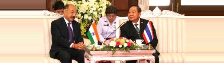 Ambassador Harsh Vardhan Shringla paid a courtesy call on Deputy Prime Minister General Prawit Wongsuwan on Friday 26 September 2014