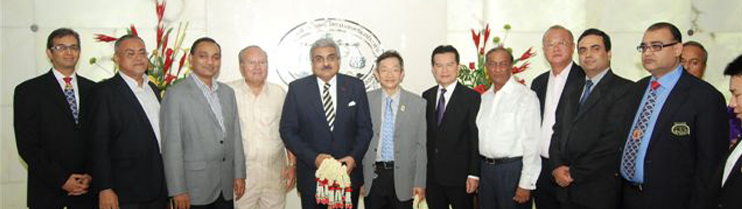 Ambassador Anil Wadhwa meeting with President and Directors of The Gems,Jewelry and Precious Metal Confederation of Thailand on October 3, 2013.