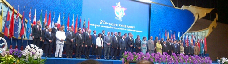 India represented by H.E. Mr. Harish Rawat, Minister for Water Resources at the Chiangmai Asia Pacific Water Summit on May 20, 2013.