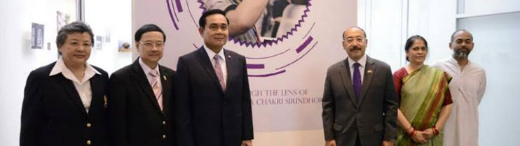 H.E. Gen. Prayut Chan-o-Cha inaugurating Exhibition -India Through The Lens of HRH Princess Maha Chakri Sirindhorn