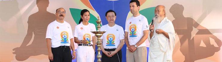 Celebrations of International Day of Yoga in Bangkok