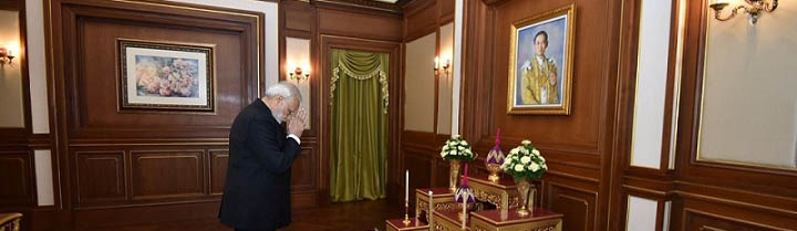 PM paying homage to the late King in Bangkok