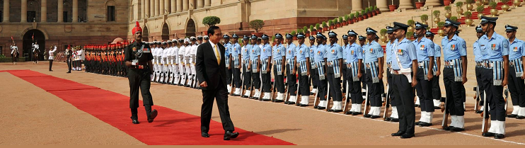 H.E. Prayut Chan-o-Cha, Prime Minister of Thailand inspects guard of honour during his State visit (16-18 June, 2016)