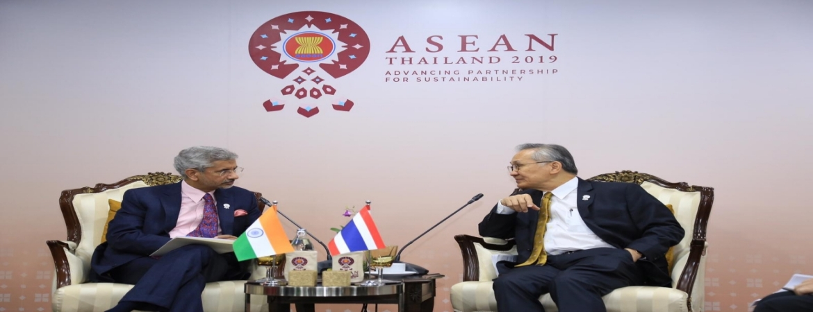 External Affairs Minister Dr. S. Jaishankar meets with Foreign Minister of Thailand H.E. Mr. Don Pramulwiai in Bangkok on 1 August 2019