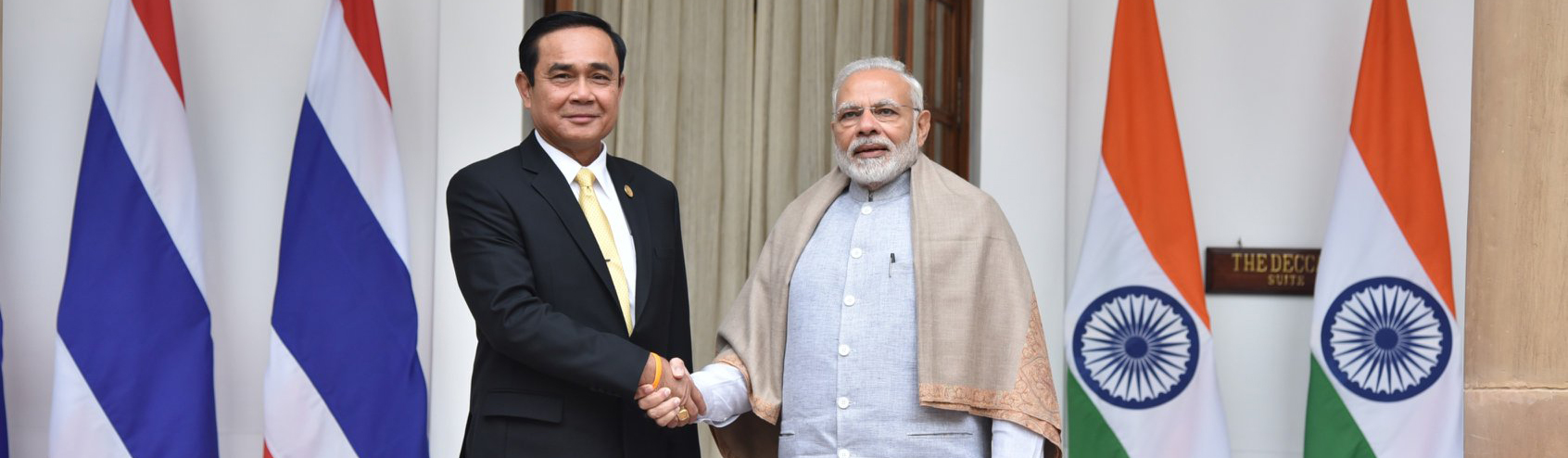 HE Gen. Prayut Chan-o-Cha, Thailand meeting HE Narendra Modi, India on 25 Jan 18 during ASEAN-India Commemorative Summit